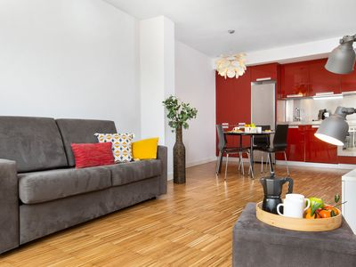 Photo for Beach apartment with rooftop - fully equipped for families and friends