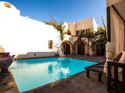 Photo for Scenic Aroma House, Santorini, 5 Bedrooms, 4 Bathrooms, Private Pool, Up to 8 Guests, offers an experience of peace and charm !