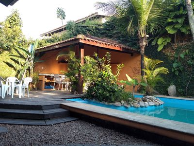 Photo for Great house with pool 150 meters from Enseada beach