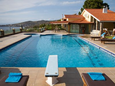 Photo for Aelia Villa, with Magnificent View and Huge Private Pool.
