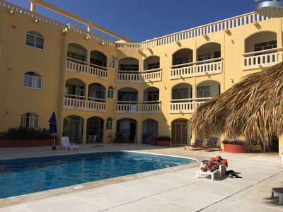 Photo for Beautiful 2 bedroom 2 bathroom condo with infinite pool on the beach in Zipolite