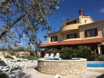 Photo for 1-8.6.19 OFFER 15%-Private heated pool-large group,Jacuzzi,4 Km nearest beach