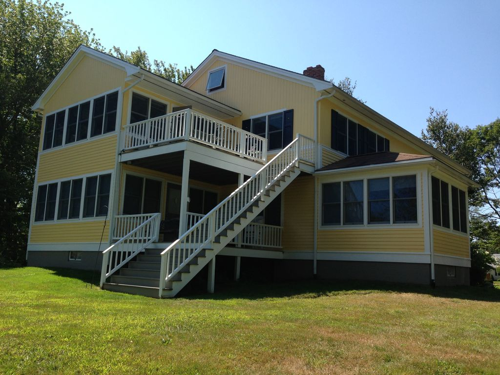 Spacious Updated Beach House With Marsh Vi Vrbo