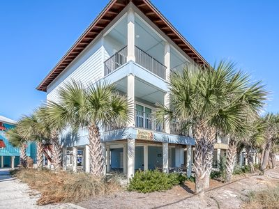 Photo for Beach home w/water views & community pool - across the street from beach!