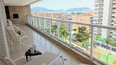 Photo for Full leisure, large gourmet balcony, sea view, near the beach