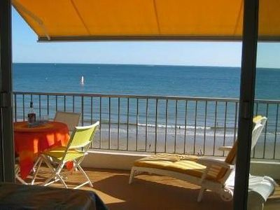 Photo for BEAUTIFUL APARTMENT FACING THE SEA. 68 M2 - 4 PERS. MAGNIFICENT VIEW ON ALL BAY