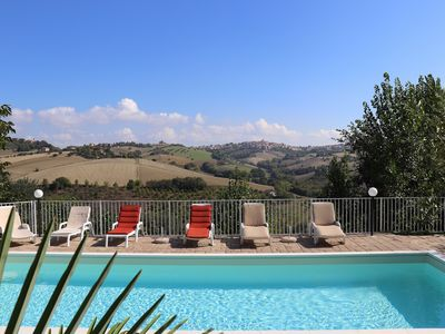 Photo for Villa Ruffini with swimming pool, 4 rooms, 14 people, panoramic view near the sea