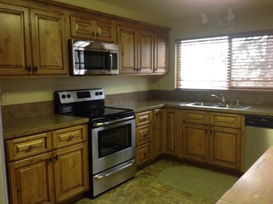 OUR BRAND NEW REMODELED KITCHEN - New flooring, cabinets countertops & appliance