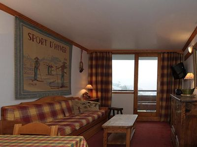 Photo for Surface area : about 36 m². 8th floor. Orientation : South. Living room with pull-out bed