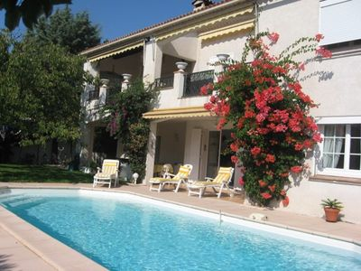 Photo for Ste Maxime holiday rental 2 rooms classified 3 * in villa 300 meters sea