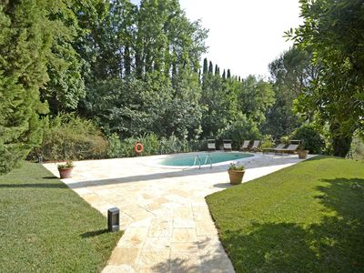 Photo for Private Villa with private pool, WIFI, A/C, TV, patio, panoramic view, parking, close to Cortona