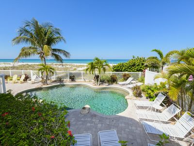Photo for TRUE BEACHFRONT HOME DIRECTLY ON SUGAR WHITE SANDS WITH HEATED POOL - IDYLLIC