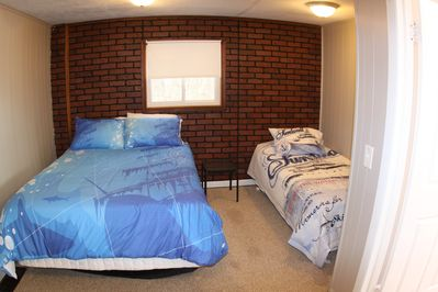 3rd Bedroom with full size and single bed