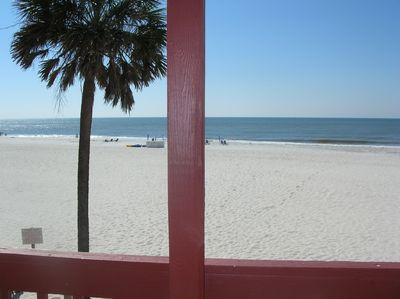 Beach Front view from the private balcony