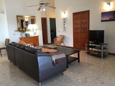Photo for Villa, pool, 8 persons overlooking the golf course and the Amarilla wifi sea