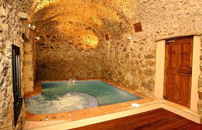 On the ground floor, there is a lovely indoor pool with jacuzzi