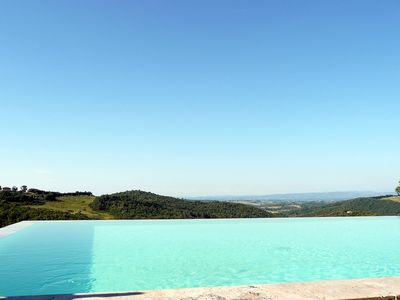 The infinity pool with panoramic views