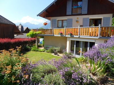 Photo for Lake Annecy Beautiful apartment on the ground floor sleeps 4