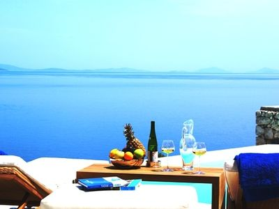 Photo for Luxury villa by the sea with infinity pool and spectacular views