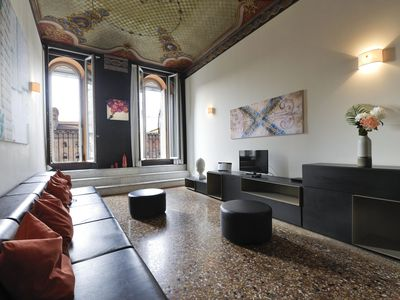 Photo for Casanova apartment in Bologna with WiFi, integrated air conditioning, balcony & lift.
