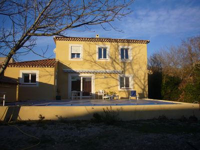 Photo for New Provencal bastide villa with large secure pool and garden.