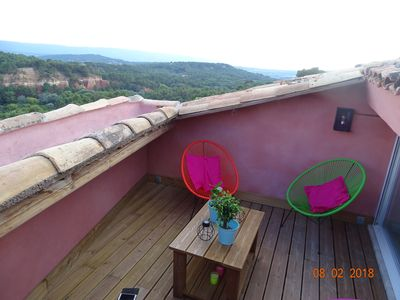 Photo for rental house in the village of Roussillon with roof terrace and Wi-Fi