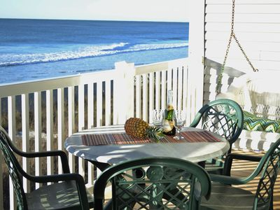 Photo for Spectacular OF condo with two 24' decks. Steps to beach  Aug wks available!