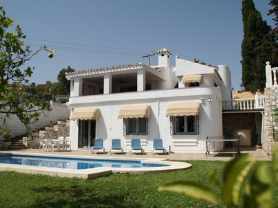 Photo for Lovely villa, Peaceful location with Private Pool and Sea View, WiFi, Aircon