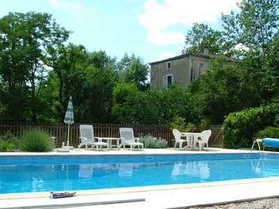 Photo for Delightful cottage with garden and private pool near St Antonin Noble Val