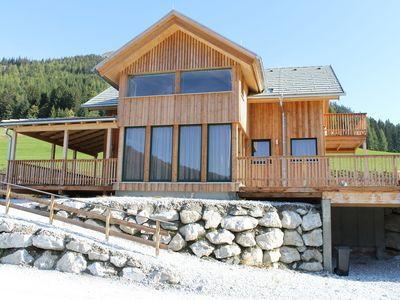 Photo for Luxury chalet with in-house spa, 200m from the ski lift at 1300m.