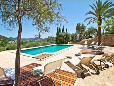 Photo for LUXURY VILLA IN PRIVATE LAND OF OLIVE TREES WITH VIEWS TO SIERRA DE TRAMUNTANA