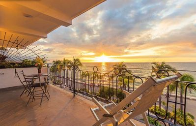 Photo for Location & View ! Luxury Oceanfront Condo, Downtown Puerto Vallarta on Malecon *