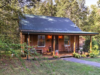 Photo for Private Cosby Log Cabin - Forested w/ Fire Pit!