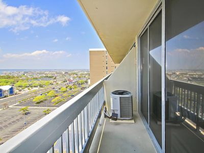 Photo for FREE DAILY ACTIVITIES! LINENS INCLUDED*!  FREE WIFI!!! SPECTACULAR OCEAN VIEWS!! Nicely furnished, direct oceanfront, bi-level unit with 2 bedrooms and 2 baths. The upper level master bedroom with balcony faces the ocean and has spectacular views.