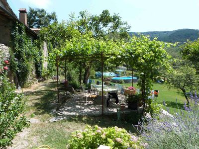 Photo for holiday home - 4 bedrooms, 3 bathrooms, kitchen in the middle of Tuscan mountain