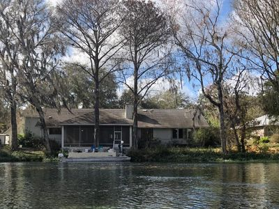 Photo for New listing!  Gorgeous RIVERFLOW on the Rainbow River.  5 bd, 3 ba, sleeps 10.