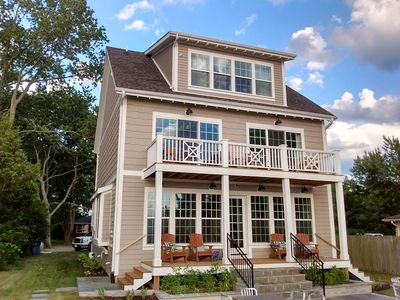 Charming Lake Michigan Home with Private Beach-Generous Porches-Gorgeous Views