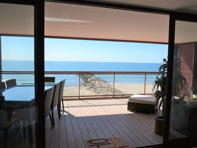 Photo for On the beach, 5 * apartment of 75m2, air conditioning, WiFi and terrace of 25 m2!