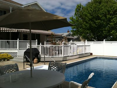 Photo for 1.5 BLOCKS TO BEACH WITH POOL...SPECIAL SEPTEMBER MID WEEK PRICING
