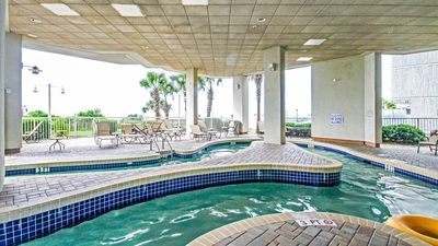 Photo for Oceanfront Suite for 6 with Private Balcony | 2 Pools + Lazy River