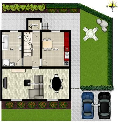 House Pouch for 2   8 people with 4 bedrooms   House