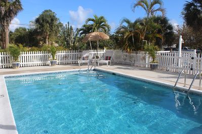 The property features a private pool and is perfect for up to 10 guests.