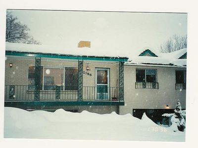 Finch Vacation House in Winter. Yes we do get snow in the Valley