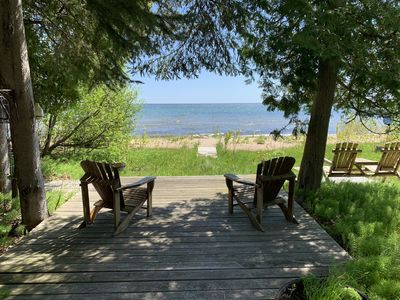 Charming cottage on sugar sand Lake Huron beach