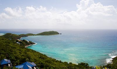 View overlooking Rendezvous Bay and the Caribbean Sea