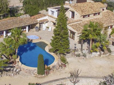 Photo for Authentic finca for 6-9 people, on the hill of Moraira with a beautiful panoramic view
