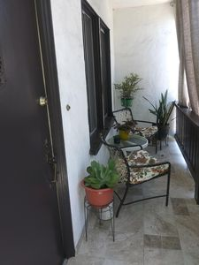 Front porch-balcony