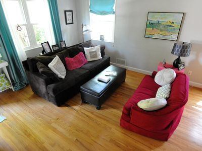 Comfortable and eclectic living room