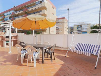 Photo for Rincon Beach with Big Terrace, BBQ and Parking (C28)