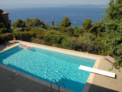 Photo for VILLA WITH BEAUTIFUL SEA VIEW, SWIMMING POOL, IN PRIVATE SECURE AREA